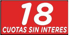 18 cuotas sin interés