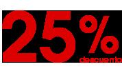25% descuento